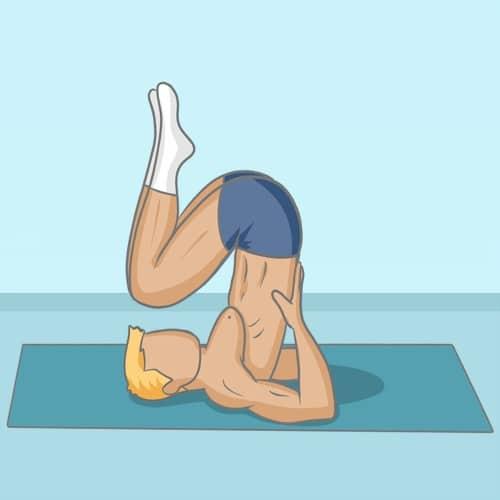 Posture de la chandelle yoga